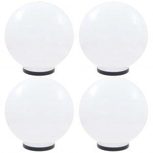 Φωτιστικά Μπάλα LED 4 τεμ. Σφαιρικά 40 εκ. Ακρυλικά (PMMA)