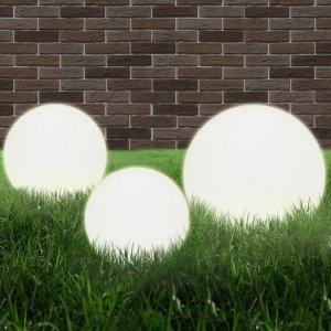 Φωτιστικά Μπάλα LED 6 τεμ Σφαιρικά 20/30/40 εκ. Ακρυλικά (PMMA)