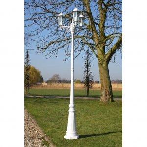 Brighton Στύλος Φωτισμού Κήπου 3φωτος Λευκός 215 cm