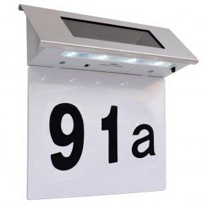 Φωτιστικό LED Ηλιακό με Αριθμό Διεύθυνσης Ανοξείδωτο Ατσάλι