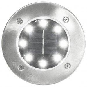 Σποτ Ηλιακά Χωνευτά - Καρφωτά LED 8 τεμ. Λευκό