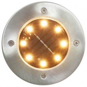 Σποτ Ηλιακά Χωνευτά - Καρφωτά LED 8 τεμ. Θερμό Λευκό