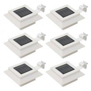 Φωτιστικά Εξωτ. Χώρου Ηλιακά 6 τεμ. LED Τετράγωνα Λευκά 12 εκ.