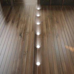Σετ Φωτιστικό Δαπέδου LED Στρογγυλό Εξ. Χώρου 6τμχ Θερμό Λευκό