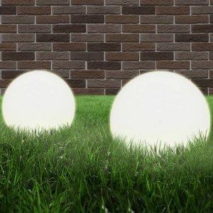 Φωτιστικά Μπάλα LED 2 τεμ. Σφαιρικά 25 εκ. Ακρυλικά (PMMA)