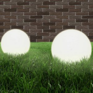 Φωτιστικά Μπάλα LED 2 τεμ. Σφαιρικά 40 εκ. Ακρυλικά (PMMA)