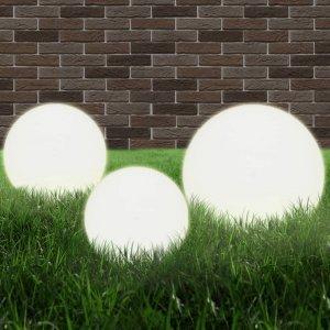 Φωτιστικά Μπάλα LED 3 τεμ Σφαιρικά 20/30/40 εκ. Ακρυλικά (PMMA)