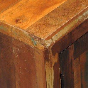 Ντουλάπι Vintage με 2 Πόρτες από Μασίφ Ανακυκλωμένο Ξύλο
