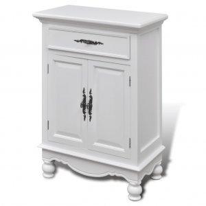 Ντουλάπι με 2 Πόρτες και 1 Συρτάρι Λευκό Ξύλινο