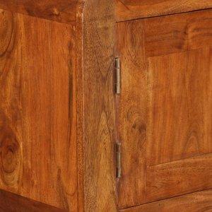 Μπουφές 120 x 30 x 75 εκ. Από μασίφ ξύλο με φινίρισμα sheesham