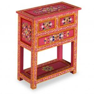 Έπιπλο με συρτάρια με χειροποίητες λεπτομέρειες ροζ ξύλο μάνγκο