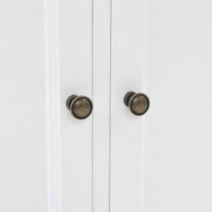 Βιτρίνα σαλονιού με 4 πόρτες 80x40x180 εκ. Mdf και ξύλο πεύκου