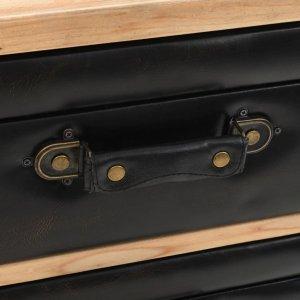 Συρταριέρα 80 x 36 x 75 εκ. Από μασίφ ξύλο ελάτης