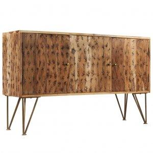 Μπουφές 120x30x75 εκ. Μασίφ ξύλο ακακίας με σχέδια lichtenberg