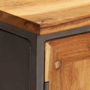 Ντουλάπι 65 x 30 x 70 εκ. Ανακυκλωμένο ξύλο teak & ατσάλι