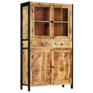 Βιτρίνα 100 x 40 x 175 εκ. Από μασίφ ξύλο μάνγκο