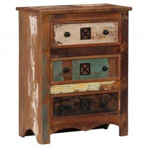 Συρταριέρα 60 x 30 x 75 εκ. Από μασίφ ανακυκλωμένο ξύλο