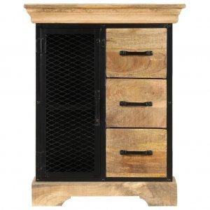 Ντουλάπι με συρτάρια 60 x 30 x 75 εκ. Από μασίφ ξύλο μάνγκο