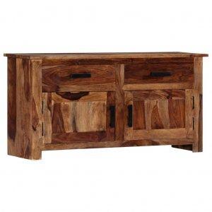 Ντουλάπι με συρτάρια 100 x 30 x 50 εκ. Από μασίφ ξύλο sheesham
