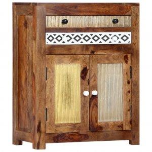 Ντουλάπι με συρτάρι 60 x 30 x 75 εκ. Από μασίφ ξύλο sheesham