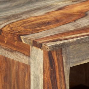 Μπουφές γκρι 100 x 30 x 50 εκ. Από μασίφ ξύλο sheesham