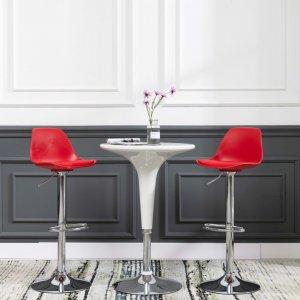 Καρέκλα μπαρ κόκκινη από συνθετικό δέρμα