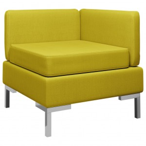Γωνιακός καναπές τμηματικός κίτρινος υφασμάτινος &m