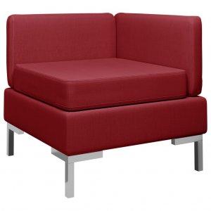 Γωνιακός καναπές τμηματικός σε μπορντό χρώμα υφασμάτ&io