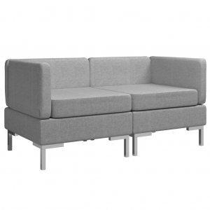 Γωνιακοί καναπέδες τμηματικοί δύο τεμαχίων με ανο&