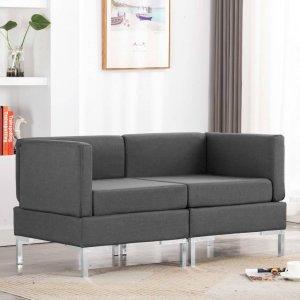 Γωνιακοί τμηματικοί καναπέδες δύο τεμαχίων σε σκ&omi