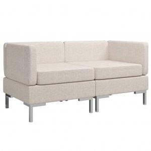 Γωνιακοί καναπέδες τμηματικοί σε δύο τεμάχια κρε&m