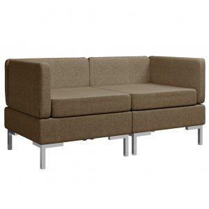 Γωνιακοί τμηματικοί καναπέδες δύο τεμαχίων σε κα&phi