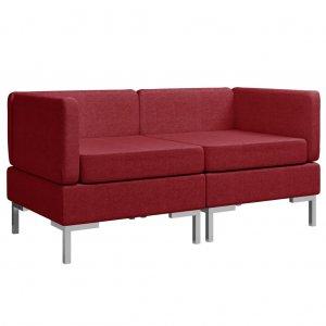 Γωνιακοί τμηματικοί καναπέδες δύο τεμαχίων από μπορ