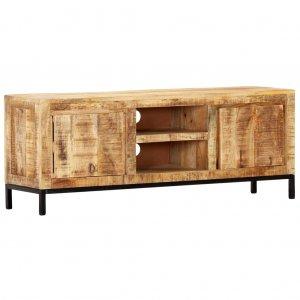 Έπιπλο τηλεόρασης από μασίφ ξύλο μάνγκο 118x30x45 εκ