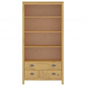 Βιβλιοθήκη Hill Range μελί από μασίφ ξύλο πεύκου 85x37x170 εκ