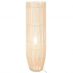 Φωτιστικό Δαπέδου Λευκό 61 εκ. Ξύλο Ιτιάς Ε27
