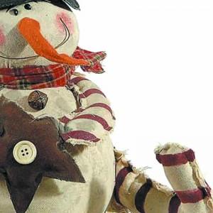 Διακοσμητικός χιονάνθρωπος με αστέρι 25 εκ