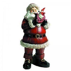 Διακοσμητικός Άγιος Βασίλης με παιχνίδι 15x15x30 εκ