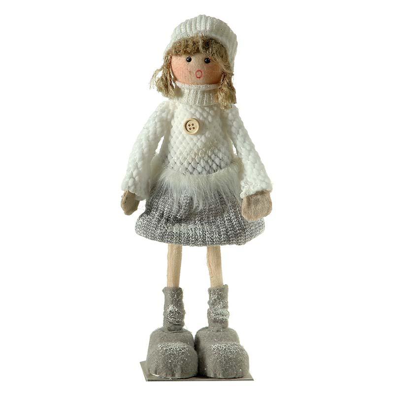 Χριστουγεννιάτικη διακοσμητική φιγούρα κορίτσι 30x10 εκ