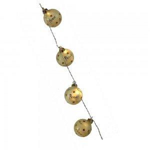 Χριστουγεννιάτικη γιρλάντα με φωτεινές μπαλίτσες 152 εκ
