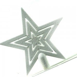 Λευκή Χριστουγεννιάτικη κορυφή αστέρι 20 εκ
