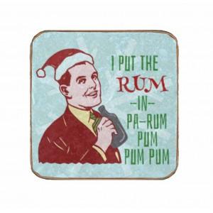 Ρετρό Χειροποίητο Σουβέρ Rum