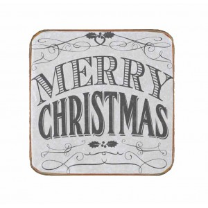 Ρετρό Χειροποίητο Σουβέρ Merry Christmas