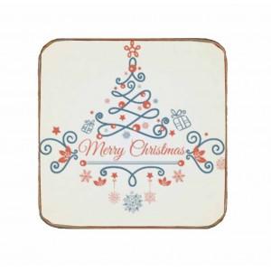 Vintage Χειροποίητο Σουβέρ Merry Christmas