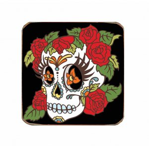 Χειροποίητο  Σουβέρ με μεξικάνικη νεκροκεφαλή