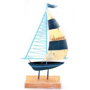 Καραβάκι Ιστιοπλοικό Διακοσμητικό 10Χ17cm Μπλέ