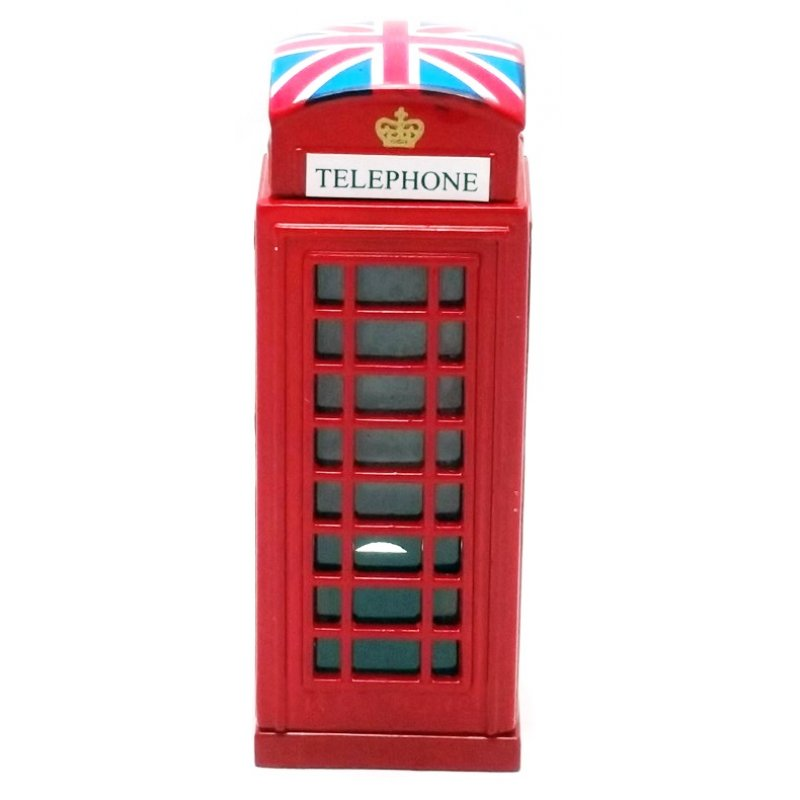 Vintage Μεταλλική Μινιατούρα Τηλεφωνικός Θάλαμος 7cm